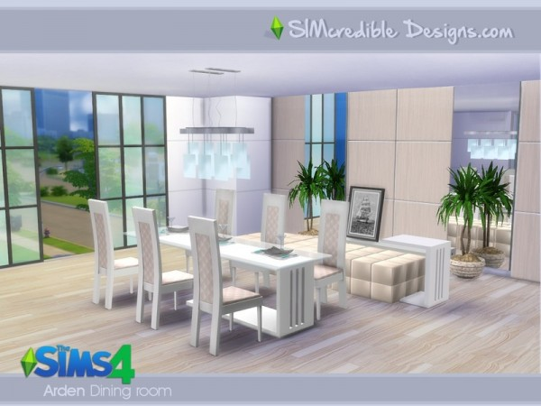 The sims resource arden dining room by simcredible sims for Sims 3 dining room ideas