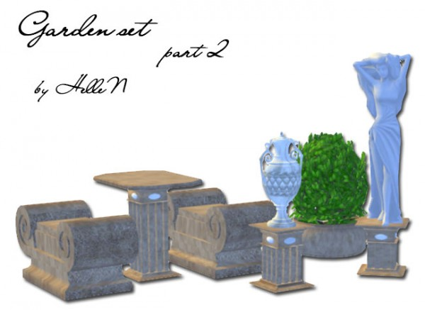 Sims Creativ: Garden set part 2 by HelleN