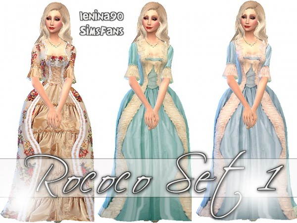 Sims Fans Rococo Dress Set 1 By Lenina 90 Sims 4 Downloads