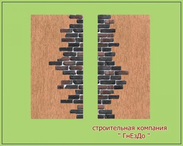 Sims 3 by Mulena: Wallpaper seamless Brick ivory