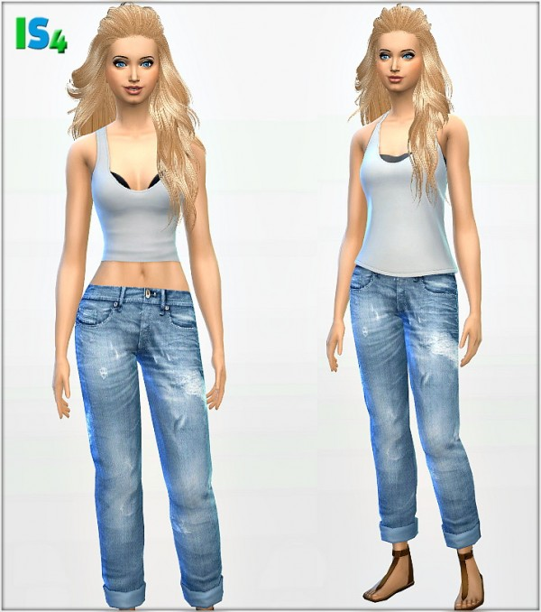 Irida Sims 4: Jeans 2 IS4