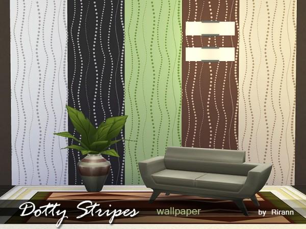 The Sims Resource: Dotty Stripes Wallpaper by Rirann