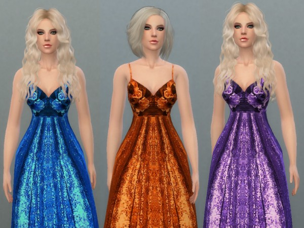 The Sims Resource: Evening Gown by Tatyaana Name