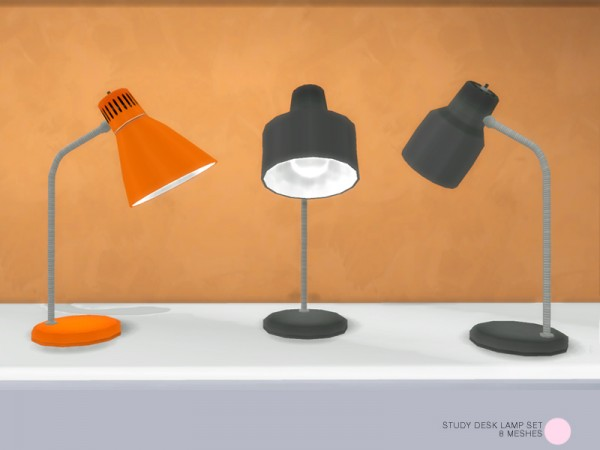 the sims resource study desk lamp set by dot o sims 4 With lamp light dot net