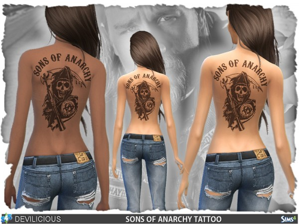 The Sims Resource: Sons Of Anarchy Tattoos by Devilicious