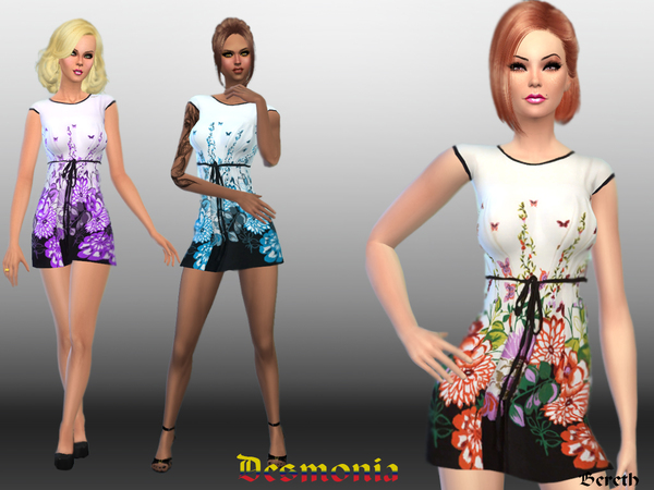 The Sims Resource: Desmonia Casual Dress by Bereth