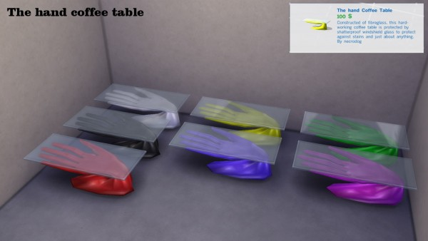 Mod The Sims: The hand livingroom set 2 by necrodog