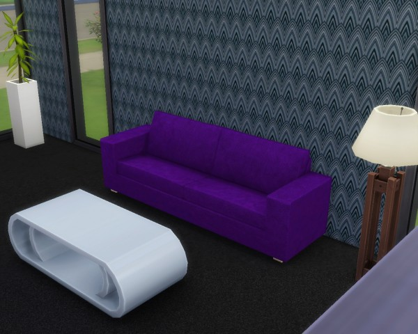 Mod The Sims Modern Leather Sofa By Mojo007 Sims 4