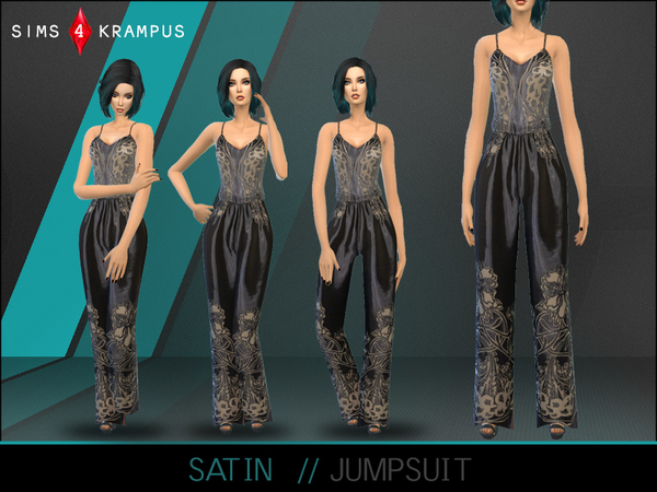 The Sims Resource: Satin Jumpsuit by SIms 4 Krampus