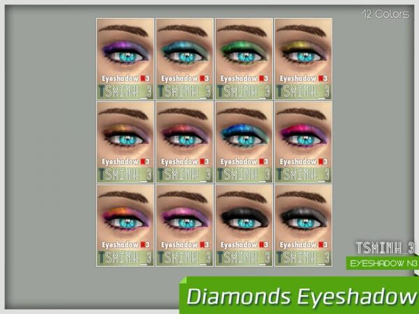The Sims Resource: Diamonds Eyeshadow by tsminh 3