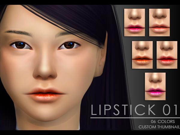 The Sims Resource: Yume   Lipstick 01 by Zauma