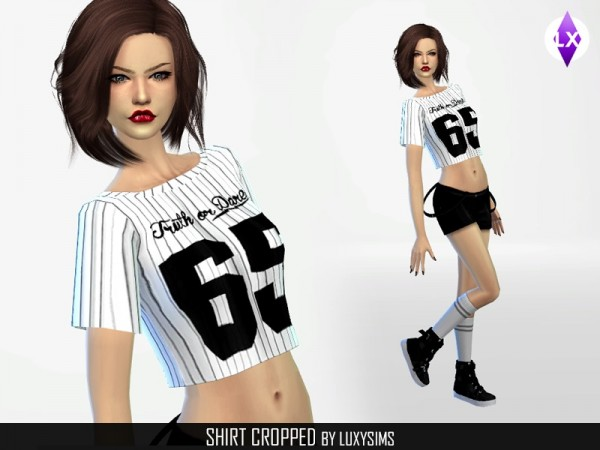 The Sims Resource: Shirts Cropped by LuxySims