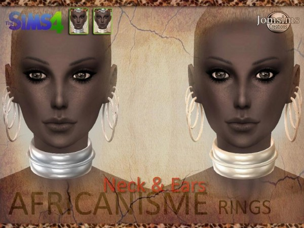 Jom Sims Creations African Earrings Sims 4 Downloads