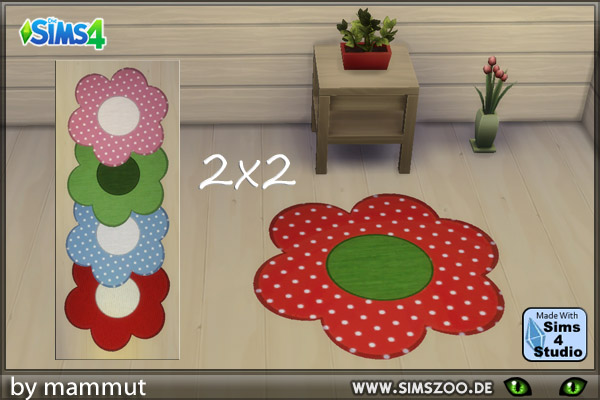 Blackys Sims 4 Zoo: Rugs 2x2 by mammut