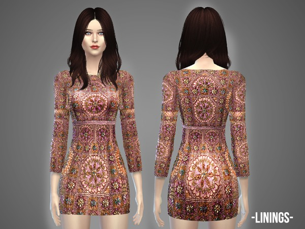 The Sims Resource: Linings   dress by April