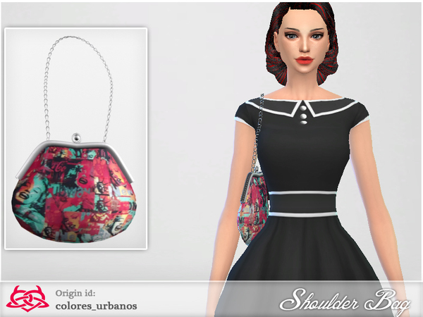 The Sims Resource: Shoulder Bag 03 by Colores Urbanos