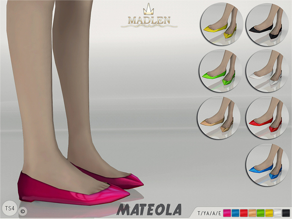 The Sims Resource: Madlen Mateola Ballet Flats by MJ95
