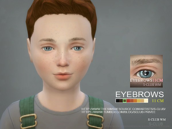 The Sims Resource: Eyebrows 11 CM by S Club
