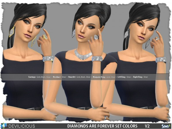 The Sims Resource: Diamonds Are Forever V2 Set by Devilicious