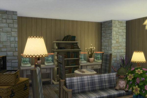 Blackys Sims 4 Zoo: Lingroom Rustika by mystril