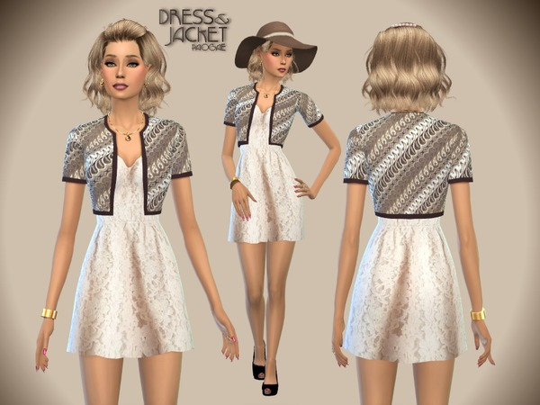 The Sims Resource: Dress&Jacket by Paogae