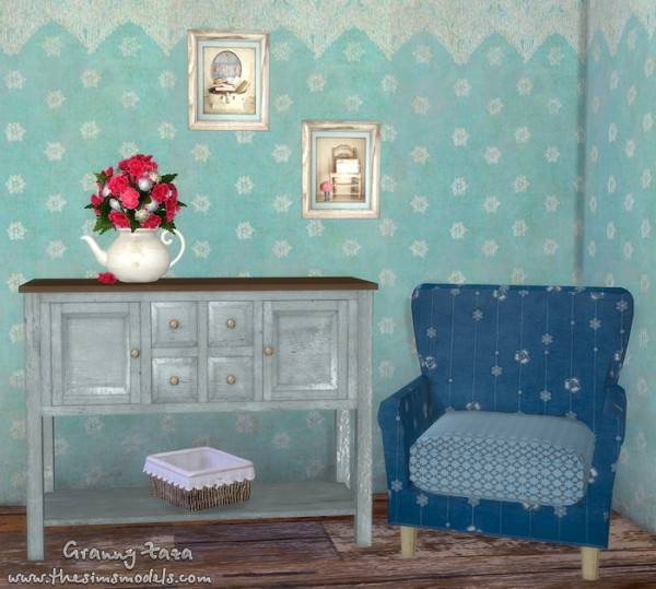 The Sims Models: A set of furniture and decor by Granny Zaza