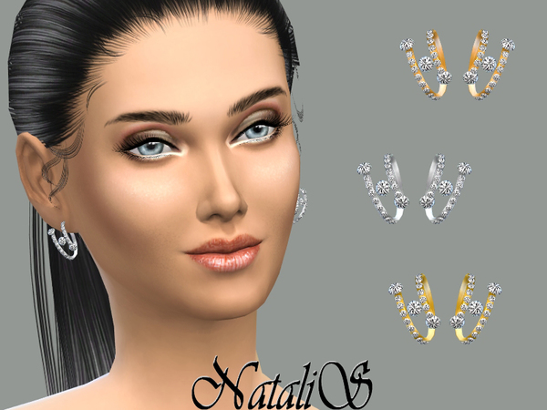 The Sims Resource: Spring and crystal earings by NataliS