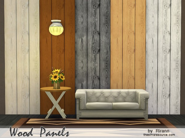 The Sims Resource: Wood Panels by Rirann