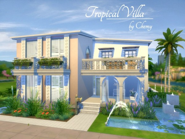 The Sims Resource: Tropical Villa by Chemy