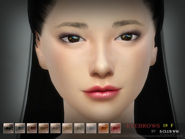 The Sims Resource: Eyebrows19 F by S Club