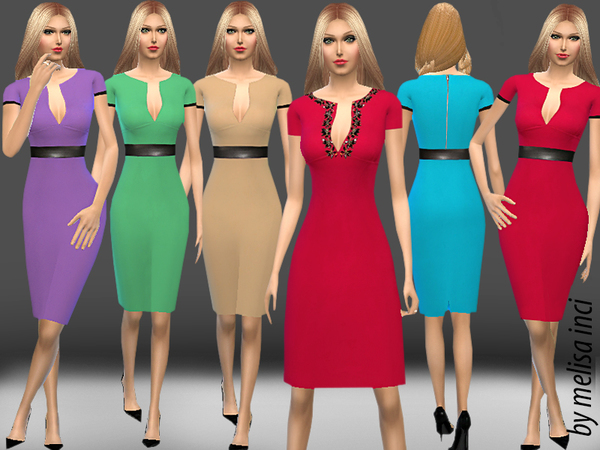 The Sims Resource: Pencil Dress by Melisa Inci