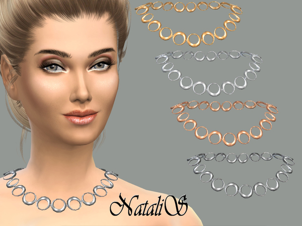 The Sims Resource: Circle necklace by NataliS