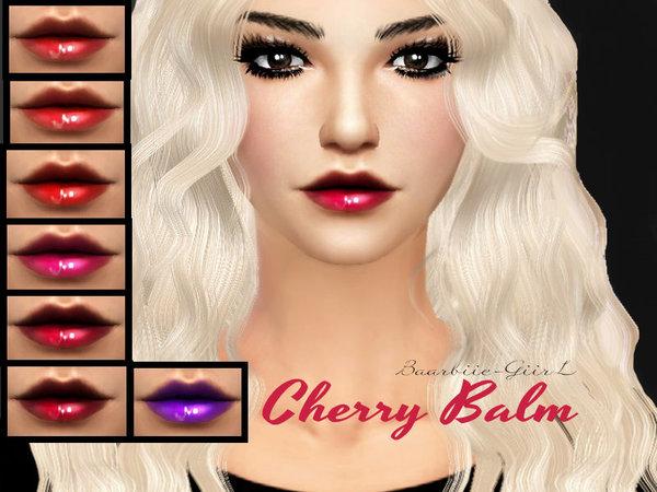 The Sims Resource: Cherry Balm by  Baarbiie GiirL