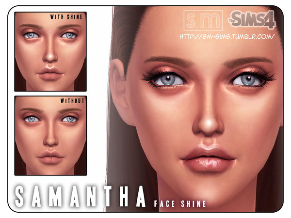 The Sims Resource: Samantha   Face Shine by Screaming Mustard