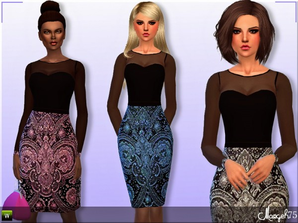 Sims 3 Addictions: Treasures Dress by Margies Sims