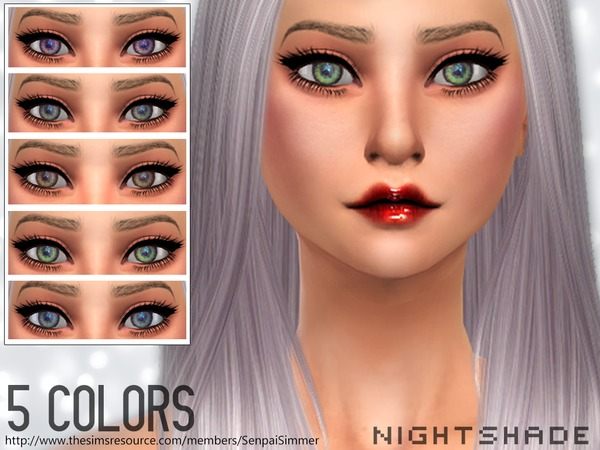 The Sims Resource: Nightshade Eyes by Senpay Simmer