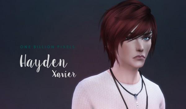 One Billion Pixels: Hayden Xavier TS4 Version Updated with Hair & Recolor