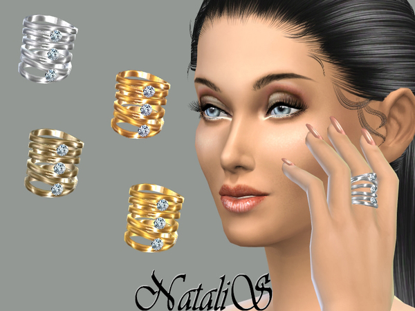 The Sims Resource: Stackable Rings by NataliS