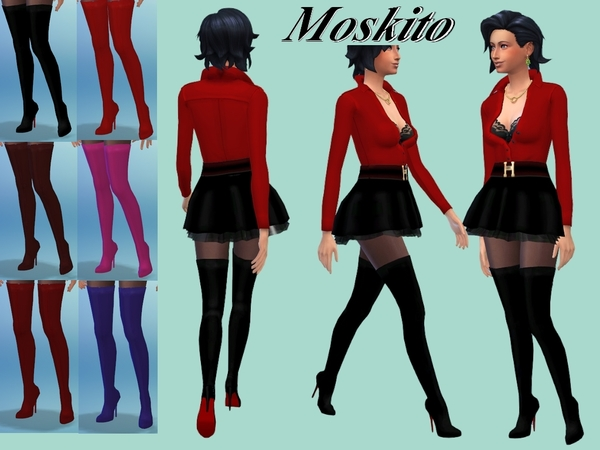The Sims Resource: High boots 015 by Moskito