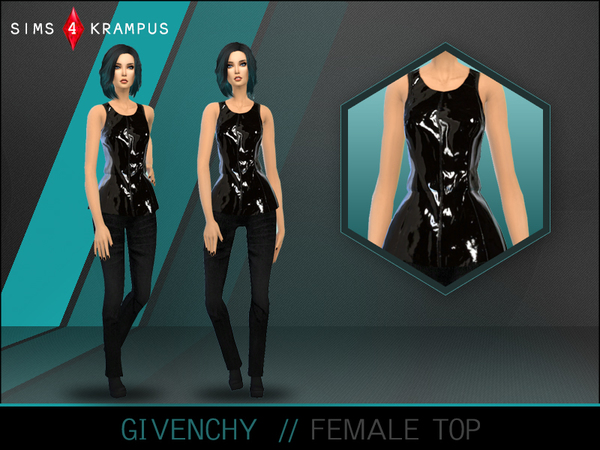 The Sims Resource: Designer Top by SIms 4 Krampus