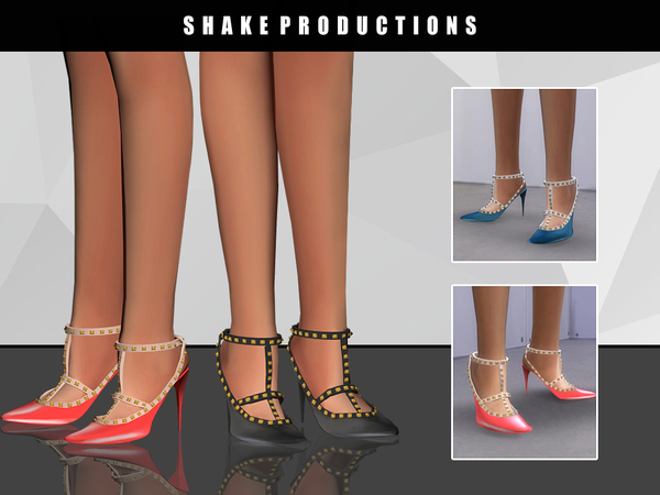 The Sims Resource: 16 SHOES by Shake Productions