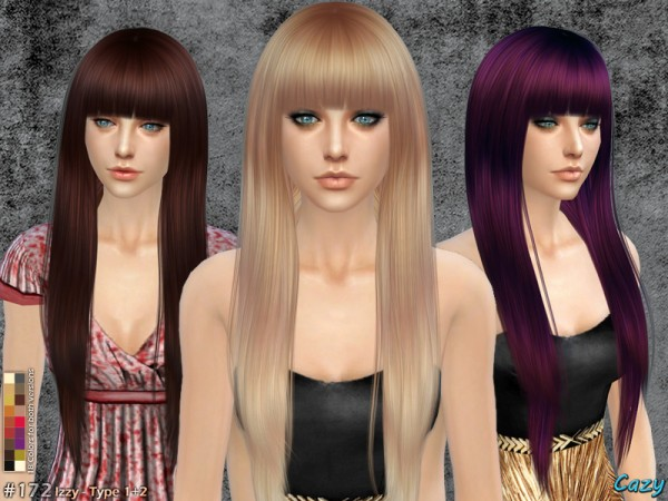 The Sims Resource: Izzy - Female Hairstyle by Cazy • Sims 4 Downloads