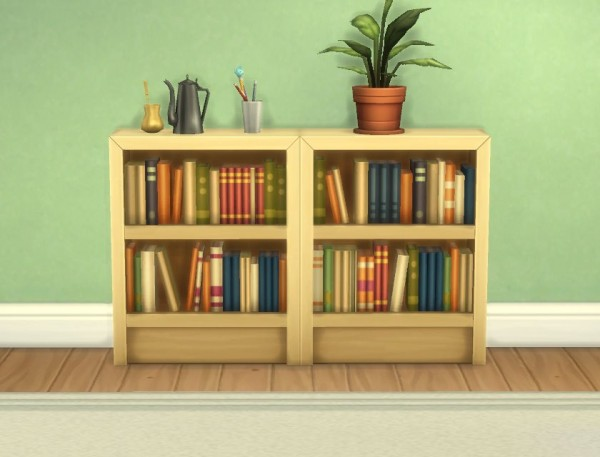 Mod The Sims Moderate And Subordinate Intellect Bookcases