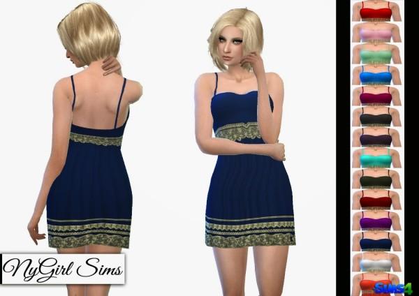 NY Girl Sims: Spaghetti Strap Embroidered Sundress