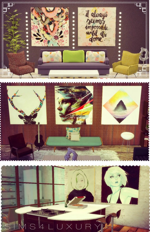 Sims4luxury Big Paintings Sets Sims 4 Downloads