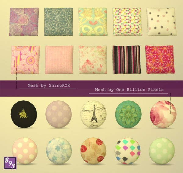 The Stories Sims Tell: Cute Pillows Set