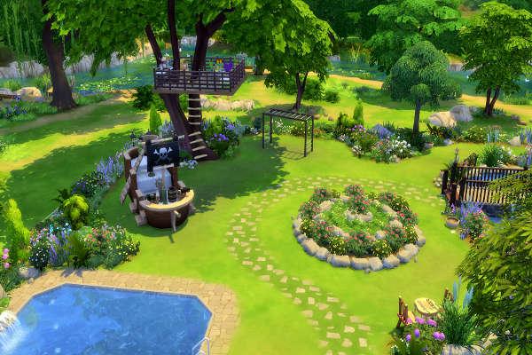 Blackys sims 4 zoo secret garden by mystril sims 4 for Garden design sims 4