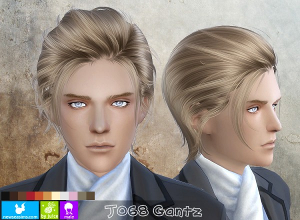 J Hairstyle: NewSea: J 068 Gantz Hairstyle • Sims 4 Downloads