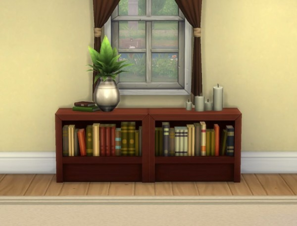 Mod The Sims: Moderate and Subordinate Intellect Bookcases by plasticbox
