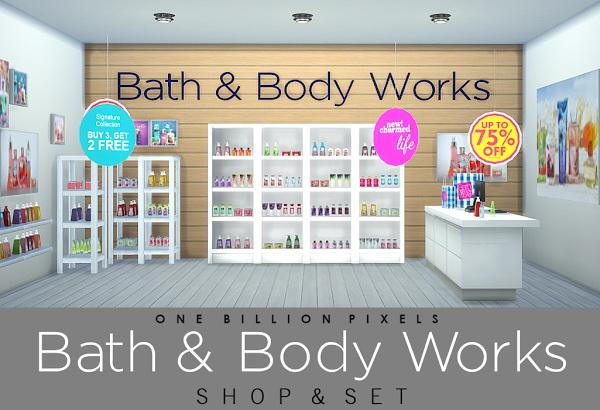 One Billion Pixels Bath Body Works Shop And Set Sims